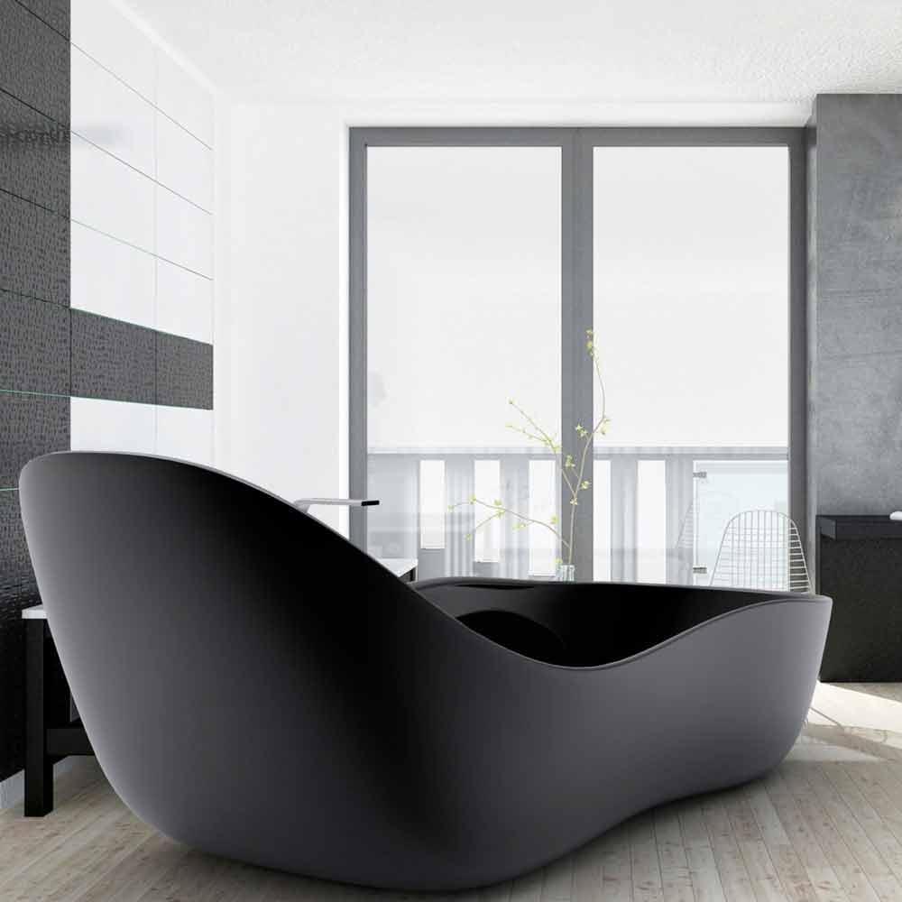 Cada de baie lăcuit de sine statatoare, design modern, Wave
