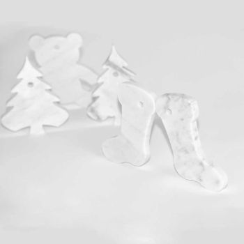 10 decorațiuni de pom de Crăciun în marmură albă de Carrara Design de lux - Decorațiuni