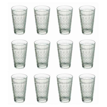 12 Pahare pentru băuturi în sticlă transparentă decorată pentru băuturi - Maroccobic