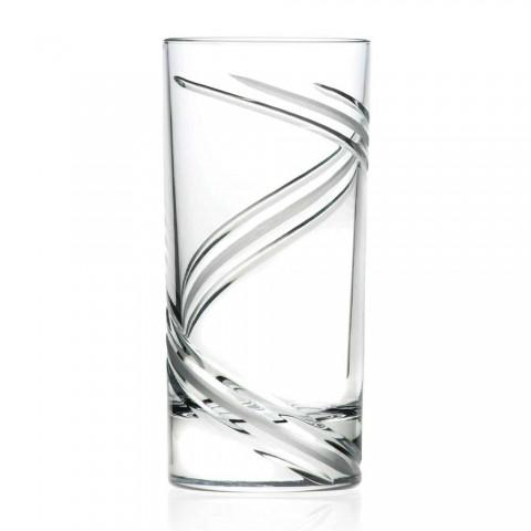 12 pahare de cocktail cu pahare înalte în cristal ecologic italian - ciclon