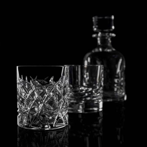 12 pahare vintage Dof pentru design de apă sau whisky în cristal - titan