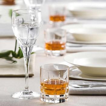 12 pahare duble de modă veche de tip whisky Basso în cristal - Fiucco