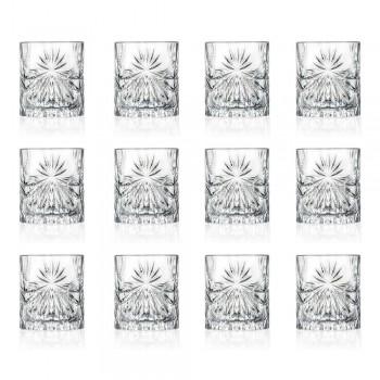 12 pahare duble de modă veche în design Eco Crystal - Daniele