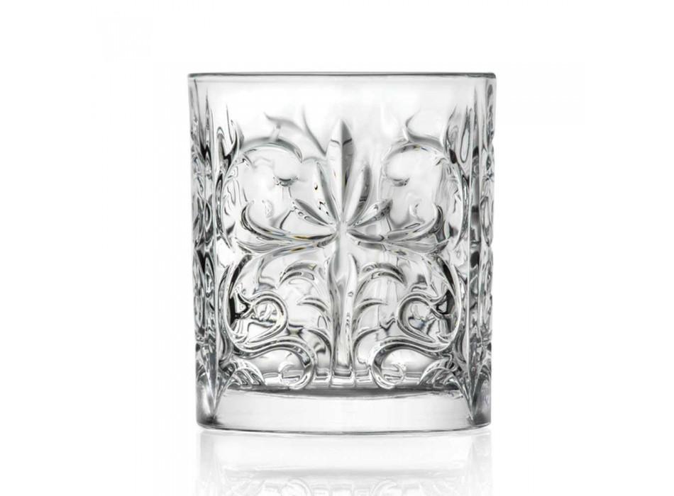 12 pahare duble de modă veche în cristal de lux Eco - Destino