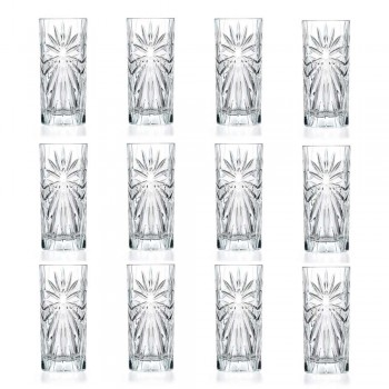 12 pahare de cocktail Highball Tumbler Tall în design Eco Crystal - Daniele