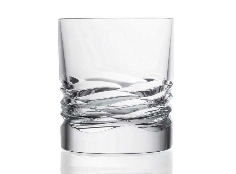 12 pahare de cristal decor de undă pentru whisky sau apă de pahar Dof - titan