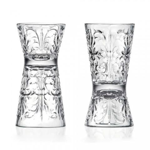 12 pahare decorate de lux în cristal ecologic - Destin
