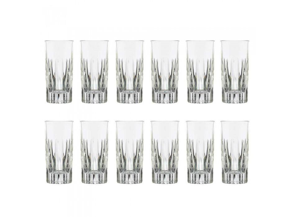 12 pahare de băuturi lungi în pahar din cristal ecologic - Voglia