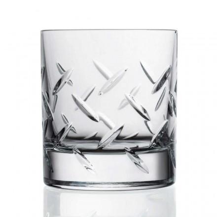 12 pahare pentru whisky sau apă în cristal ecologic cu decorațiuni prețioase - aritmie