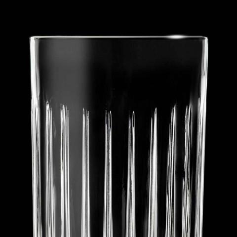 12 pahare Highball High Ball în cristal decorat Eco - Senzatempo