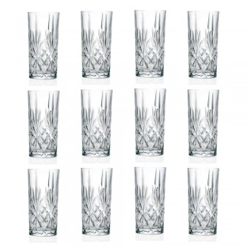 12 pahare High High Ball pentru cocktail în cristale ecologice - Cantabile