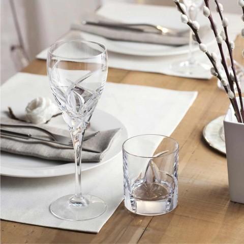 12 ochelari cu pahare mici în design Eco Crystal Luxury - Montecristo