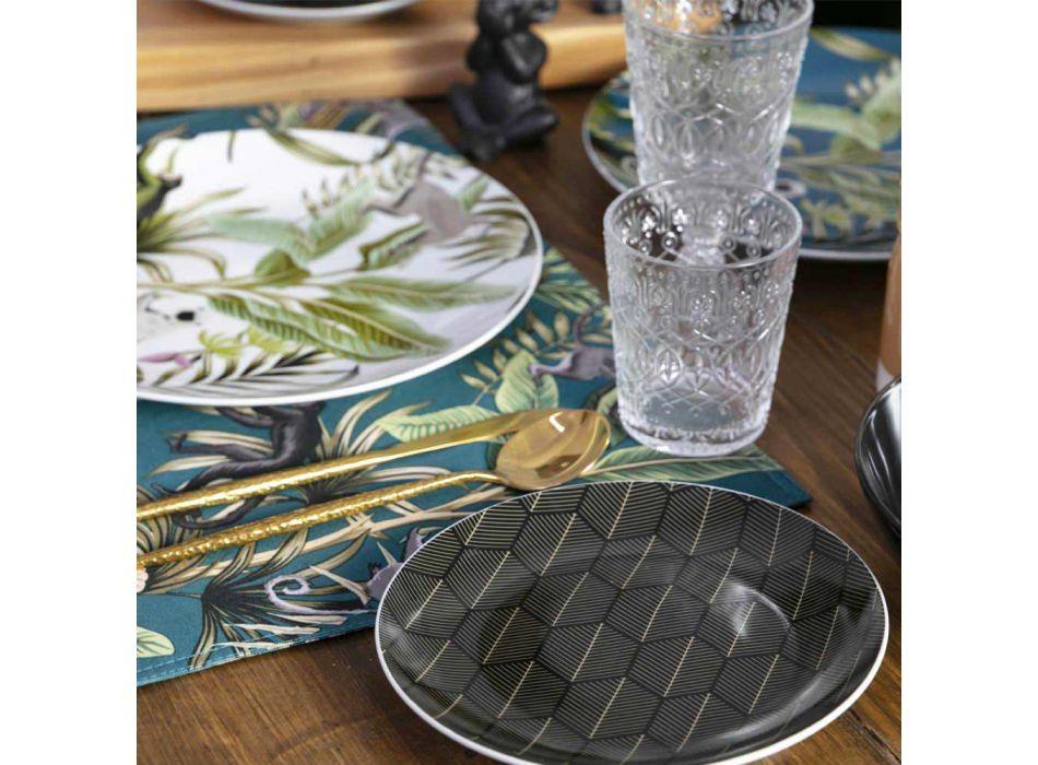12 pahare pentru apă în sticlă transparentă decorată - marocobă