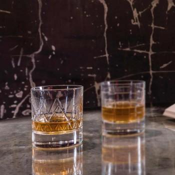 12 sticlă whisky sau apă de lux design modern în cristal - aritmie
