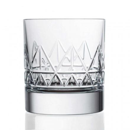12 pahare de whisky sau apă cu design vintage de cristal - aritmie