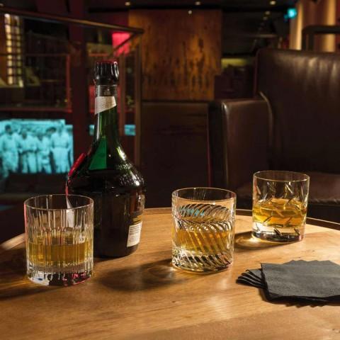12 pahare de apă de whisky sau cristal cu decor liniar de lux - aritmie