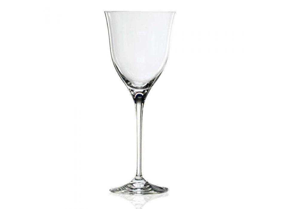 12 pahare de vin alb în cristal ecologic Design minimal de lux - neted