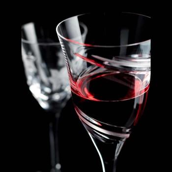 12 pahare de vin roșu în cristal ecologic de lux fără plumb - ciclon