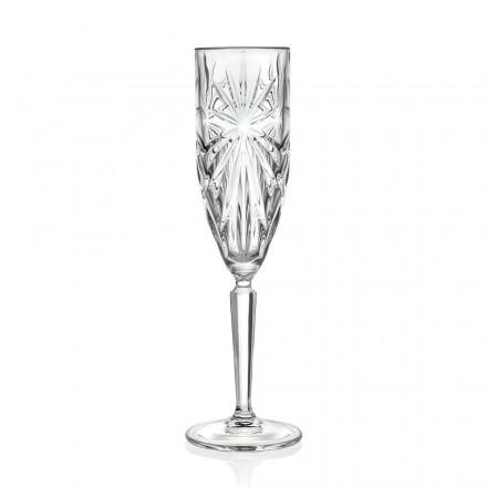 12 pahare cu flaut Pahar pentru șampanie sau Prosecco în cristal ecologic - Daniele