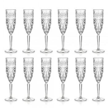 12 pahare cu flaut Pahar pentru șampanie sau Prosecco în cristal Eco - Daniele