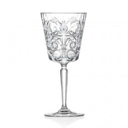 12 pahare pentru apă, băuturi sau design de cocktail în cristal decorat Eco - Destino