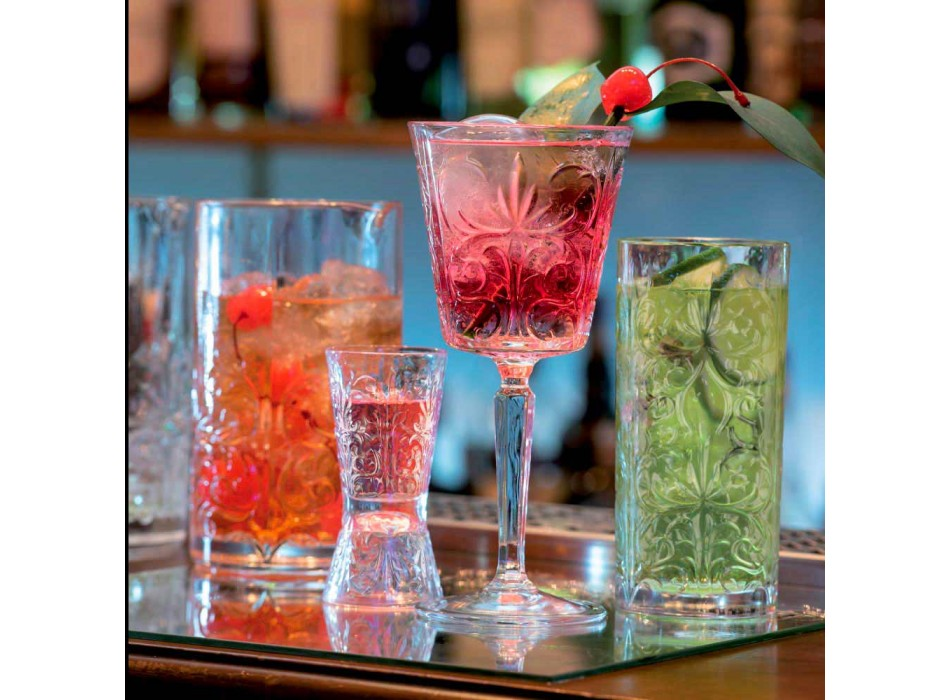 12 pahare pentru design de apă, băuturi sau cocktailuri în cristal decorat Eco - Destino