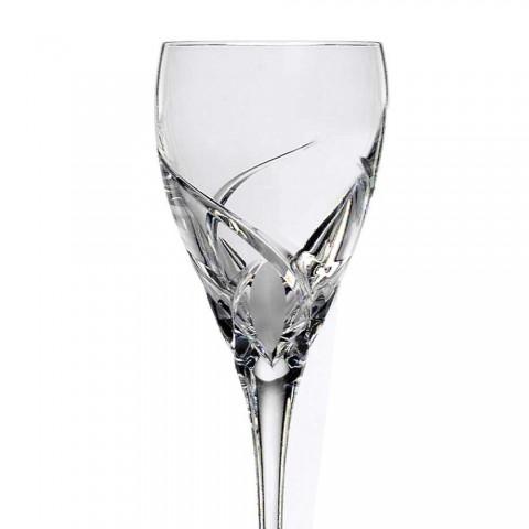12 pahare pentru vin alb în design ecologic de cristal ecologic - Montecristo