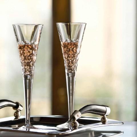12 Pahare de vin Pahare Fluter pentru bule de cristal - Titanioball