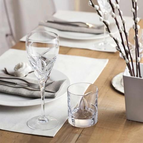 12 pahare de vin roșu în design ecologic de cristal ecologic - Montecristo