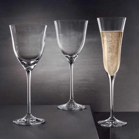 12 pahare de vin roșu în cristal ecologic de lux design minimal - neted