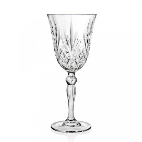 12 Pahare Vin, Apă, Cocktail în Cristal Ecologic Stil Vintage - Cantabile