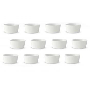 12 cupe de înghețată albă din porțelan sau cupe cu fructe - Egle