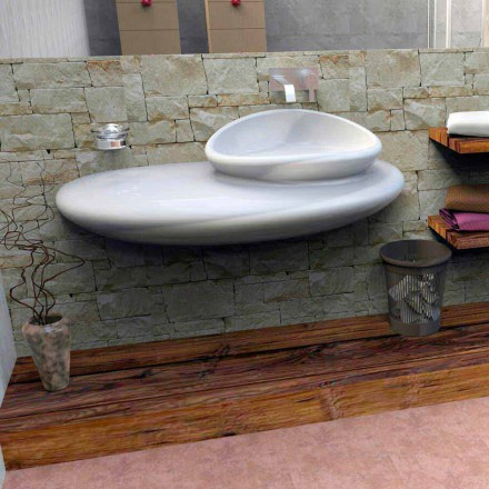 Chiuveta suspendata cu design modern Piatra din Italia
