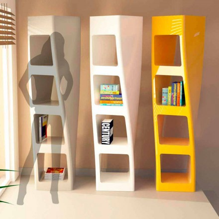 Biblioteca moderna de design in Solid Surface Collins