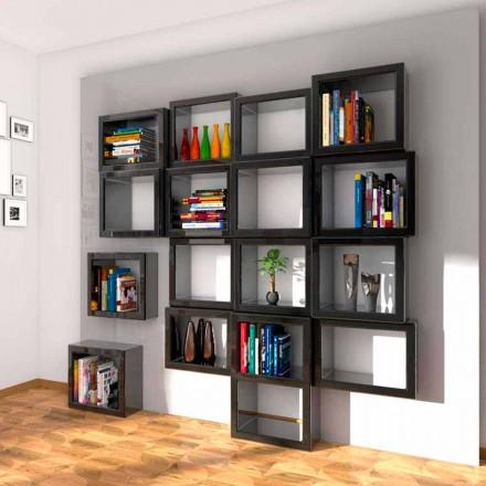 Design bibliotecă de perete Fra011 Fabricat în Italia