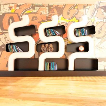 Biblioteca contemporana Solid Design Ser P realizata in Italia
