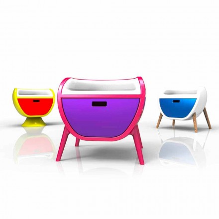 Design modern de masă de noptieră Gauche Realizat în Italia