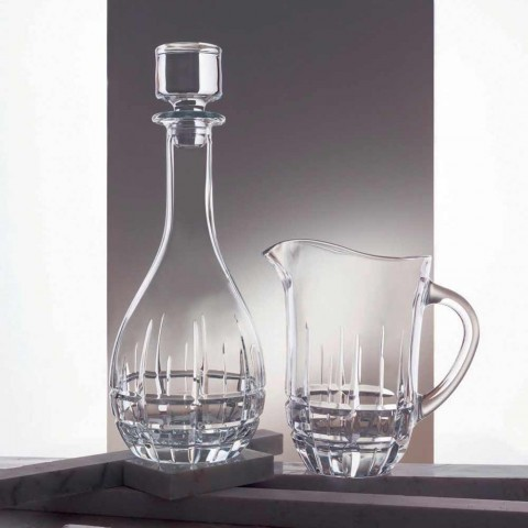 2 sticle cu dop rotund de design din cristal decorat - Fiucco