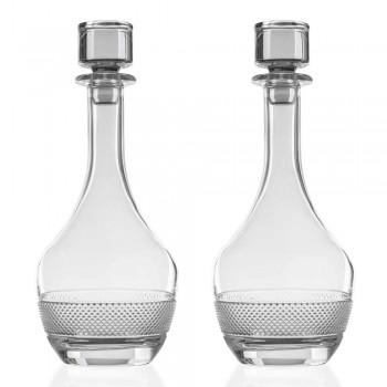 2 sticle de vin cu capac rotund de cristal ecologic - Milito