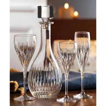 2 sticle de vin din cristal ecologic mână măcinat lux italian - dorință