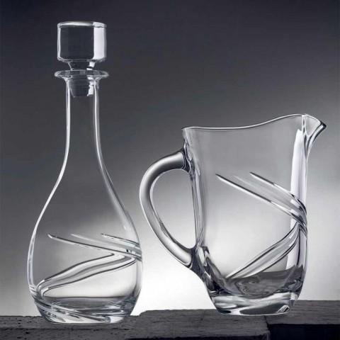 2 sticle de vin și capac de cristal ecologic decorat manual de mână - ciclon