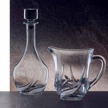 2 sticle de vin Eco Crystal cu capac rotund și decorațiuni - Advent