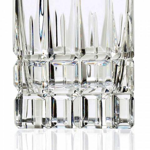 2 sticle de whisky cu capac de cristal Design pătrat cu capac - Fiucco
