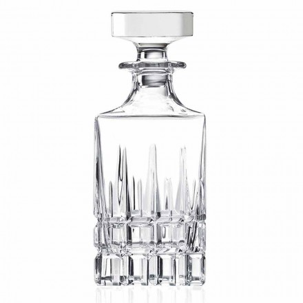 2 sticle de cristal cu whisky cu capac de design Made in Italy - Fiucco