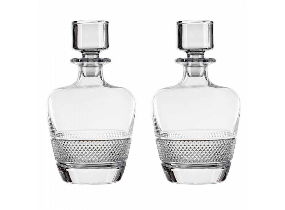 2 sticle de whisky decorate în cristal ecologic Design elegant - Milito