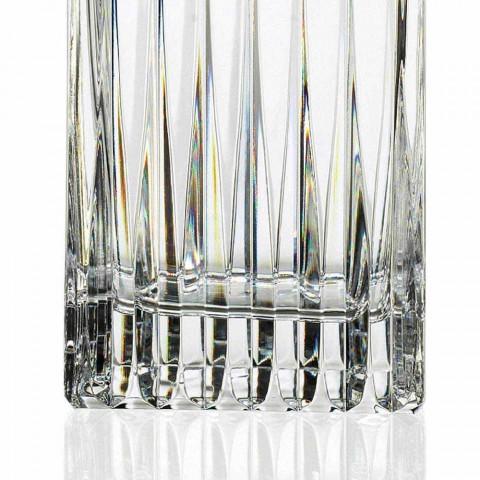 2 sticle de whisky din cristal cu măcinare manuală fabricate în Italia - Voglia