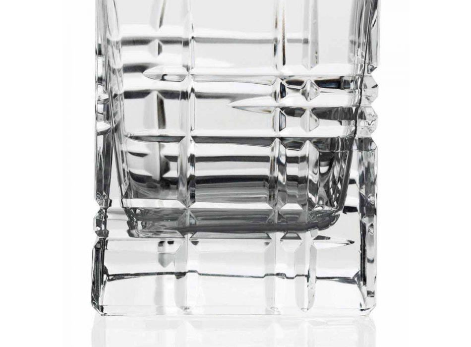 2 sticle de whisky cu capac de design pătrat decorat cu cristal - aritmie