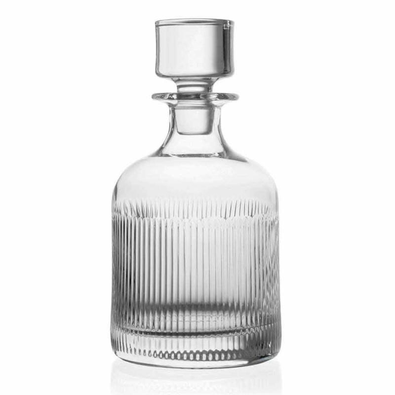 2 sticle de whisky cu design ecologic din cristal, capac vintage - tactil