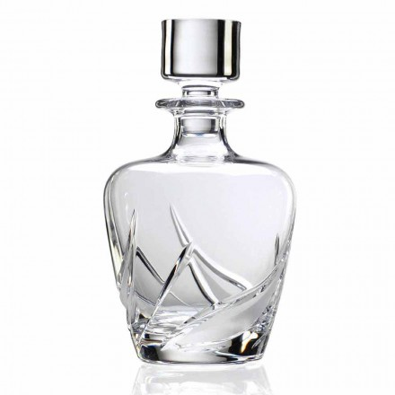 2 sticle de whisky din cristal cu capac de design decorat de lux - Advent