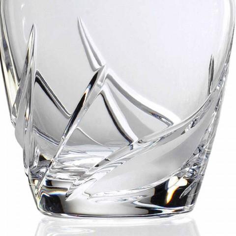 2 sticle de whisky din cristal cu capac de design decorat de lux - Advent